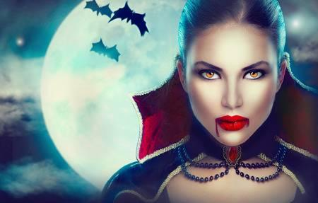 63910630 fantasy halloween woman portrait beauty sexy vampire